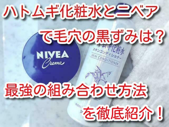 毛穴 ニベア ハトムギ化粧水